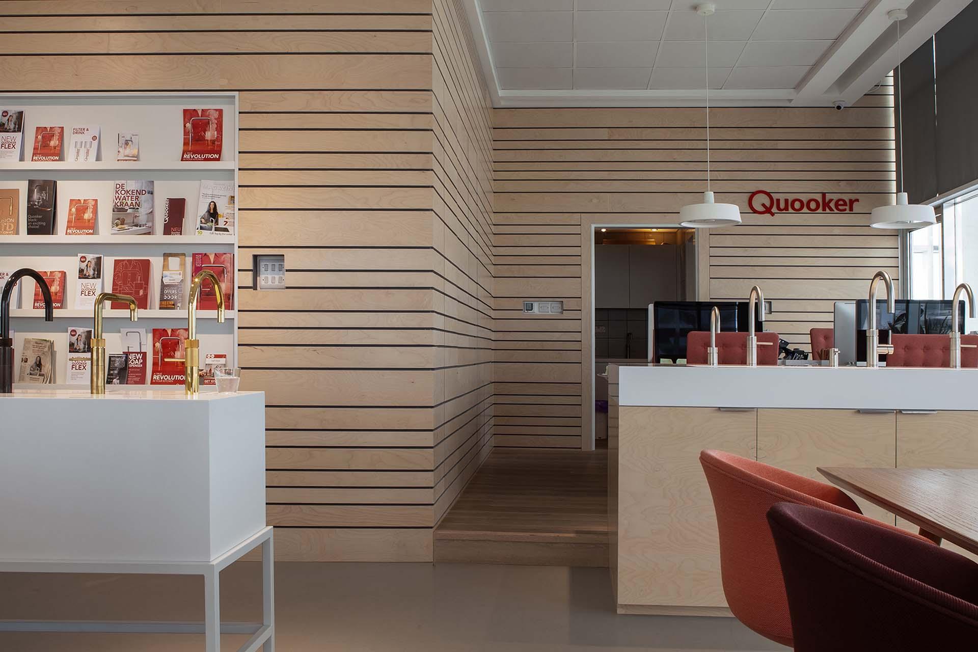 Wooden wall Quooker shaoroom Dubai.